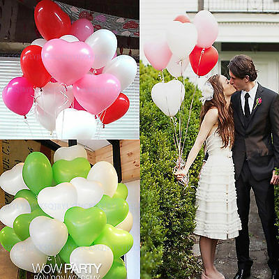 """12pcs Latex Heart Love Ballons Party Wedding Marriage Proposal Decorating 12"""""""