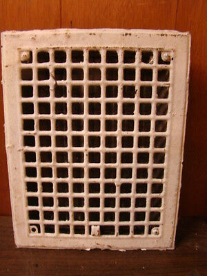 Vintage 1920S Iron Heating Grate Square Design 14 X 10.75 A