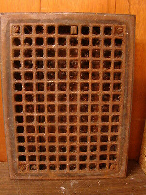 Vintage 1920S Iron Heating Grate Square Design 16 X 12 C