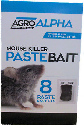 Mouse Bait Professional Poison Block Sachets - Can Kill mice in minutes