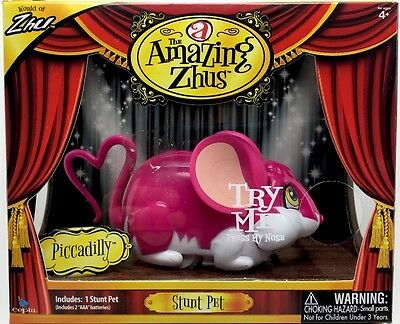 The Amazing Zhus PICCADILLY Stunt Pet Pink & White New In Box