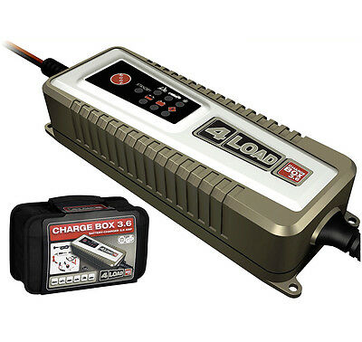 4Load Charge Box 3,6 automatisches Auto Motorrad Batterie Ladegerät AGM GEL XS