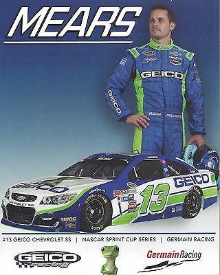 "2017 CASEY MEARS /""GEICO MILITARY RACING FORD/"" #98 NASCAR XFINITY SERIES POSTCARD"