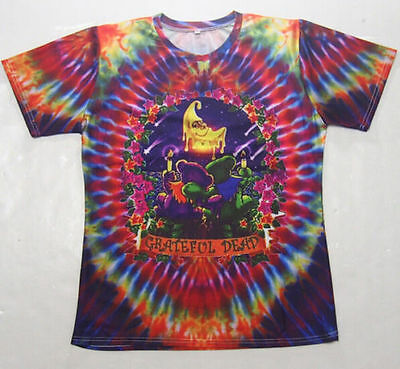 New Women Men's Funny Grateful Dead Floral Graphic 3D Print Casual T-Shirt F8