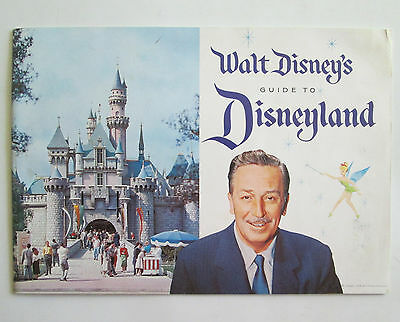 vintage 1958 Walt Disney's Guide to Disneyland Souvenir Pamphlet WATER STAINED