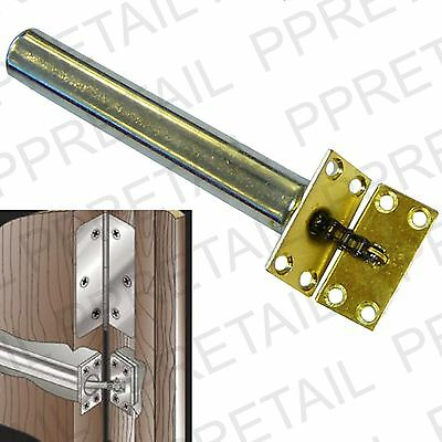 BRASS CONCEALED DOOR CLOSER Chain Spring FIRE RATED Tubular Auto Self Closing