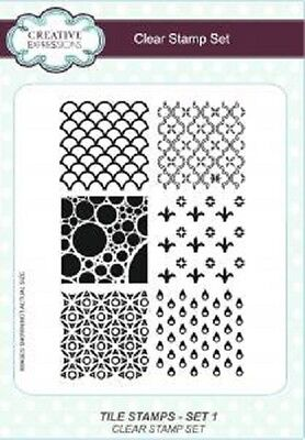 CREATIVE EXPRESSIONS A5 Clear Stamps Set Element Stamps TILE STAMP SET 2 CEC767