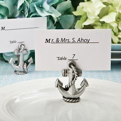 6 Nautical Anchor Name / Memo Note Wedding Place Cards Holders Favours Gifts
