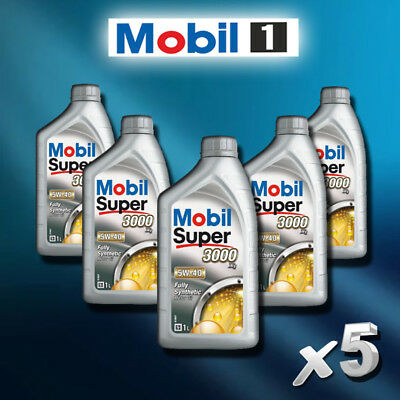 KIT 5 LITRI OLIO MOTORE MOBIL 5w40 SUPER 3000 X1 FULL SYNTHETIC IN OFFERTA