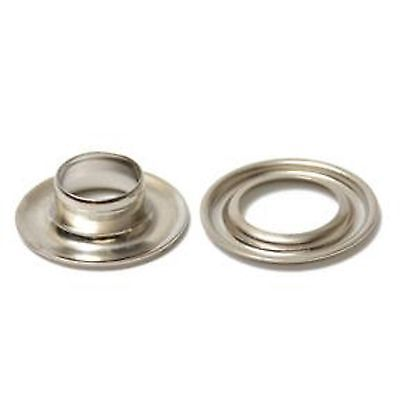 "3/8"" Self Piercing Nickel Plated Grommets 100 pcs Curtain Tarp Drapes Awning"