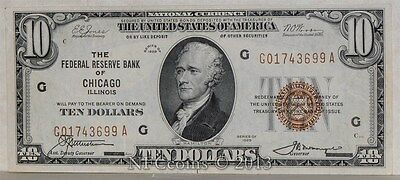 Fr. 1860 $10 1929 The Federal Reserve Bank of Chicago, IL CU