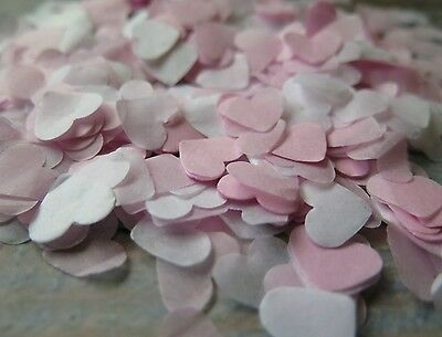 1400+ Pink And White Hearts Confetti Wedding Decoration/throwing/eco & Handmade