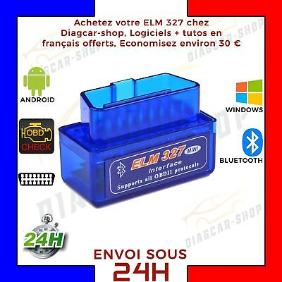 Mini ELM BLUETOOTH OBD OBD2 ODB2 OBDII DIAG DIAGNOSTIQUE SCANNER ELM Neuf
