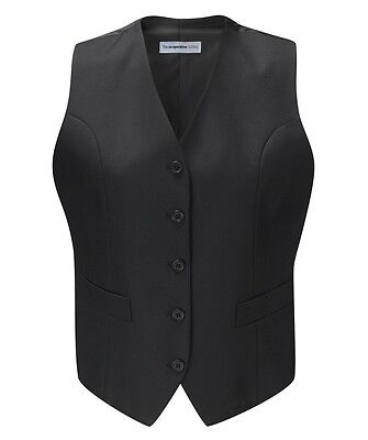 Ladies Mariotto Fitted Wool Mix Waistcoat Corporate Business Smart Formal Office
