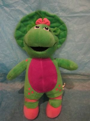 Barney and Friends Baby Bop Plush Toy Green and Pink Ballet Slippers 2006