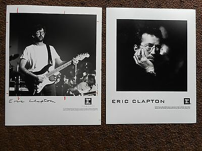 """Eric Clapton Lot Of (2) Promotional Press Kit Glossie Photo's 8"""" X 10"""""""