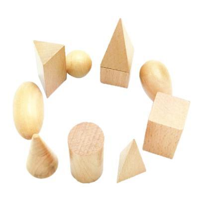 Wooden Cognitive Geometry Blocks Montessori Early Learning Toy for Kids Gift