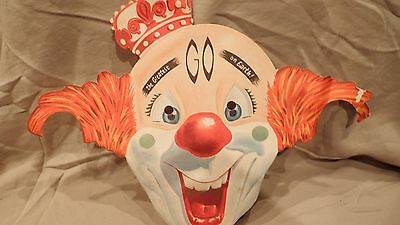 STANDARD OIL RED CROWN GASOLINE DEALER PROMO GIVEAWAY CLOWN MASK Collectible