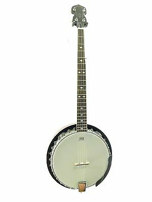 Lucky Penny Model B5-DL/LH Left Handed Deluxe 5 String Resonator Banjo w/Remo He