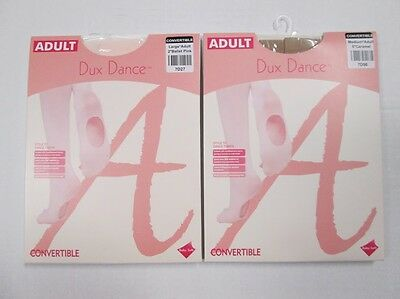 New PINK, NUDE or CARAMEL Convertible Dance Tights Tan SA MA LA XL Adult Womens