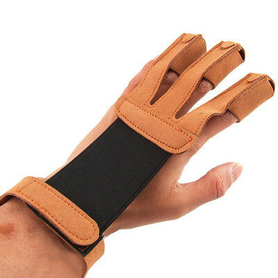 Outdoors Shooting Archery Gloves Finger Protective Guard Traditional Bow Mitts