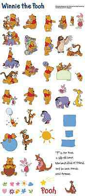 Disney Winnie The Pooh Bear Brother Machine Embroidery Designs PE CD,USB