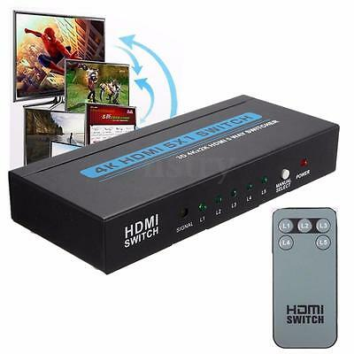 5in1 Out 4K HD 1080P 5 Port HDMI Selector Switch Switcher Splitter for HDTV PS3