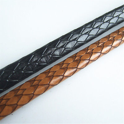 New 1 Meter PU 10*6mm Licorice Snake Skin Leather Cord For DIY Fittings