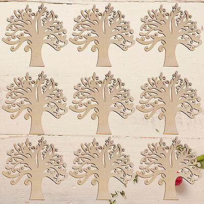 1PC Creative Wooden Craft Tree Shape Blank Family Tree Wedding Party Ornament