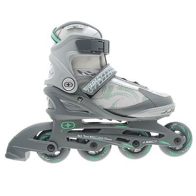 No Fear Fitness Inline Skates Four Wheel Sports Roller Blades Skating Ladies