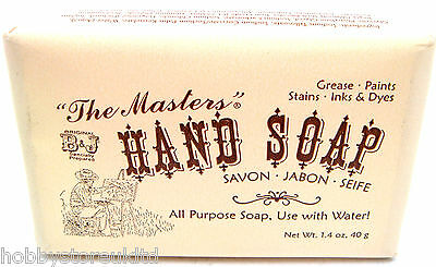 The Masters Hand Soap Artists Hand Soap Removes Paint Oil Inks Soap Bar 40g New