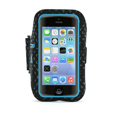 Griffin Armband Case for Apple iPhone 5/5S/SE - Black/Blue - GB38823