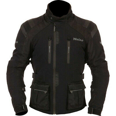Weise Onyx GT Black Jacket Mens 3 Layers Thermal Waterproof Lining Armour