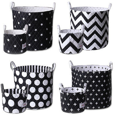 Minene Monochrome Storage Basket SET Toy Storage Kids Large & Small baskets