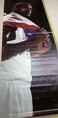 LeBRON JAMES #6 NIKE 10ft. Vinyl Rafter Banner USA Olympics Los Angeles Lakers