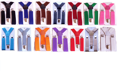 Boys Suspenders AS LOW AS $3.19 - FAST 24 hr shipping! - USA Seller - 18+ colors