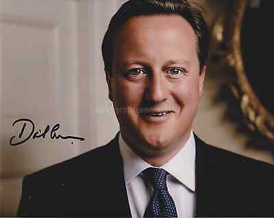 David Cameron Hand Signed 8x10 Photo, Autograph, Prime Minister, Downing Street