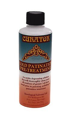 Curator Antiquing Cold Patination Pre-Treatment Acidic Degreasing Cleaning Fluid