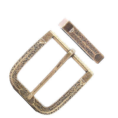 """Buckle and Keeper Set Old World Antique Brass 1-1/2"""" 1648-09"""