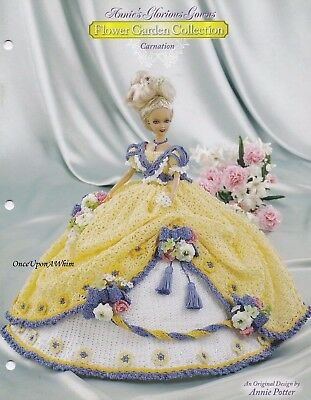 Carnation, Annie's Glorious Gowns Fashion Doll Clothes Crochet Pattern 8801