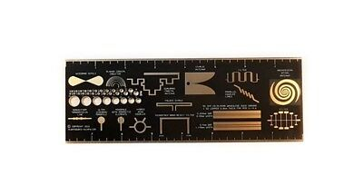 PCB RULER RF & MW SPECIAL EDITION Double-sided Gold plated FR4