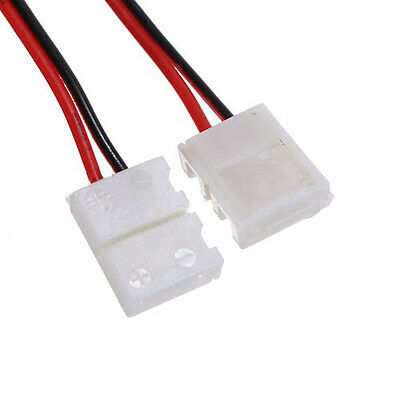 10X LED PCB Connector Adapter 2 Pin for RGB Strip 8mm wide new SP