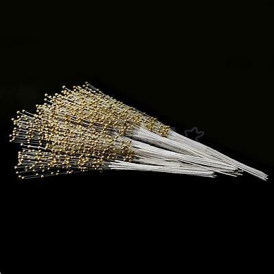 100 Gold Faux Pearl Spray Bead on Wire Stems Wedding Bouquet Table Decor