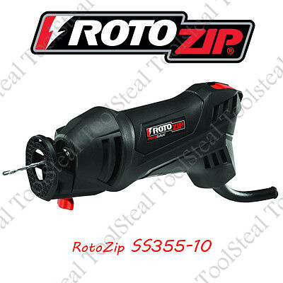 RotoZip SS355-10-RT Spiral RotoSaw Spiral Saw Tool W/ ZipBits & Factory Warranty