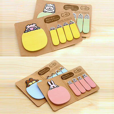Cute Personalized Animal Sticker Post Bookmark Point Marker Memo Sticky Notes