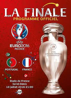 EURO 2016 FINAL  France v Portugal - Official FRENCH Language edition Programme