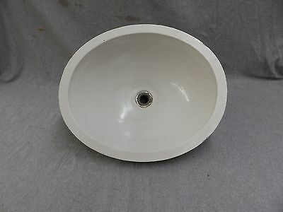 Oval Antique Vitreous China Porcelain Ceramic Sink Basin Vtg Plumbing 1052-16