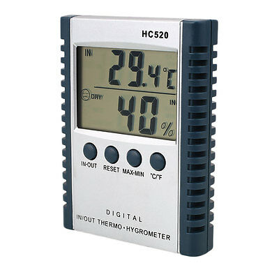 Indoor/Outdoor Home Office LCD Digital Temperature Humidity Meter Thermometer