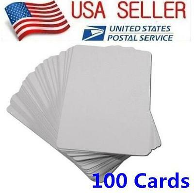 100 Blank White PVC Cards, CR80, 30 Mil, Graphics Quality, Credit Card size