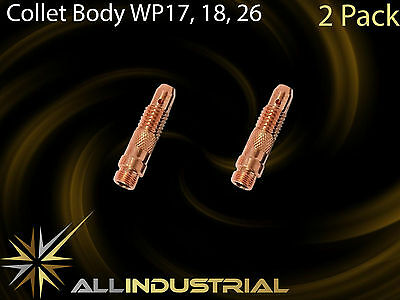 Tig Torch Collet Body - WP17 WP18 WP26 - 2.4mm 10N32 (2Pack)